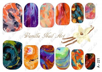 Vanilla Nail Art Slider No. A-221