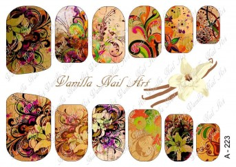 Vanilla Nail Art Slider No. A-223