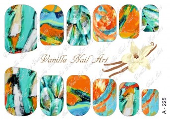 Vanilla Nail Art Slider No. A-225