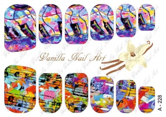 Vanilla Nail Art Slider No. A-228
