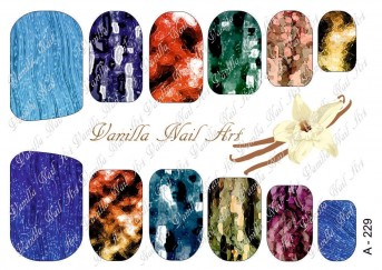 Vanilla Nail Art Slider No. A-229