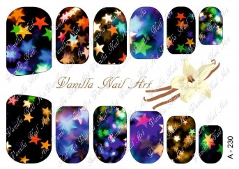 Vanilla Nail Art Slider No. A-230