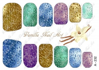 Vanilla Nail Art Slider No. A-232