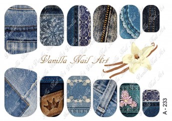 Vanilla Nail Art Slider No. A-233