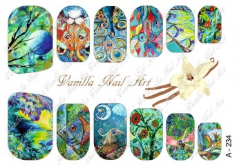 Vanilla Nail Art Slider No. A-234