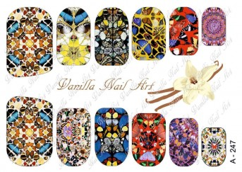 Vanilla Nail Art Slider No. A-247
