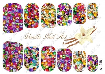 Vanilla Nail Art Slider No. A-248