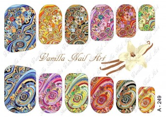 Vanilla Nail Art Slider No. A-249