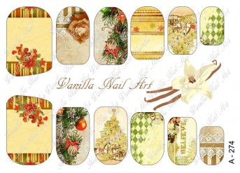 Vanilla Nail Art Slider No. A-274