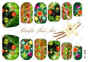 Vanilla Nail Art Slider No. A-216