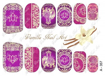 Vanilla Nail Art Slider No. A-357