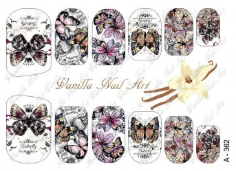 Vanilla Nail Art Slider No. A-362