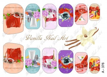Vanilla Nail Art Slider No. A-376