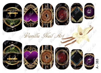 Vanilla Nail Art Slider No. A-383