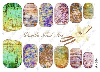 Vanilla Nail Art Slider No. A-384