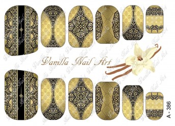 Vanilla Nail Art Slider No. A-386