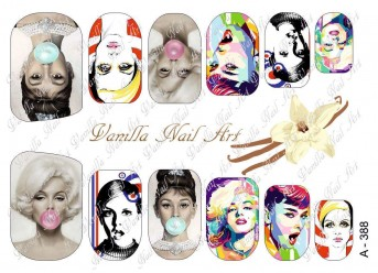 Vanilla Nail Art Slider No. A-388
