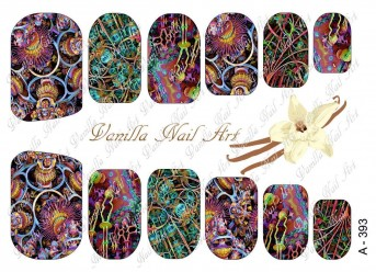 Vanilla Nail Art Slider No. A-393