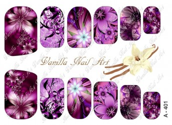 Vanilla Nail Art Slider No. A-401