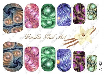 Vanilla Nail Art Slider No. A-421
