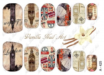Vanilla Nail Art Slider No. A-425