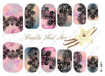 Vanilla Nail Art Slider No. A-441