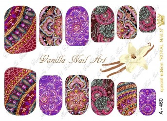 Vanilla Nail Art Slider No. A-460