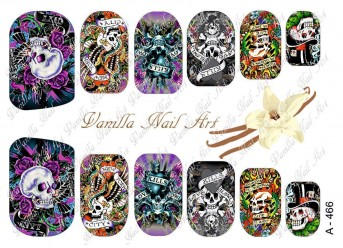 Vanilla Nail Art Slider No. A-466