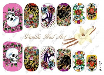 Vanilla Nail Art Slider No. A-467