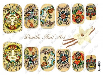 Vanilla Nail Art Slider No. A-468