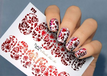 Vanilla Nail Art Slider No. F-28-red (Foil Effekt)