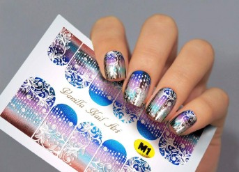 Vanilla Nail Art Slider No. M-1 (Metallic Effect)