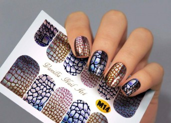 Vanilla Nail Art Slider No. M-14 (Metallic Effect)