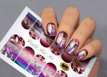 Vanilla Nail Art Slider No. M-9 (Metallic Effect)