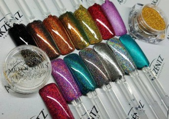 Shiny Stars Ultra Fine Glitter Powder, 12 colori