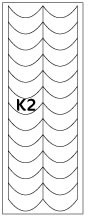 French Nail Forms, Top Quality, K2, pack of 5