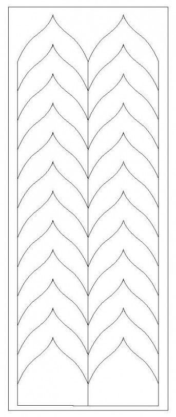French Nail Forms, Top Quality, Romantic Chevron, 1p.