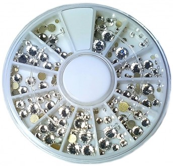 Strass Wheel Crystal, mixed sizes