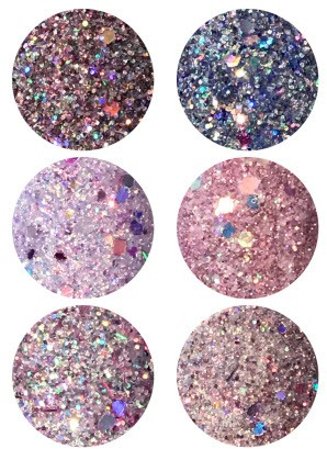 Diamondline Shades of Berries 6 Glitter Powder Deluxe