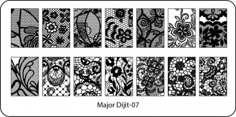 Stamping Schablone Major Dijit 07