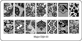 Stamping Schablone Major Dijit 03