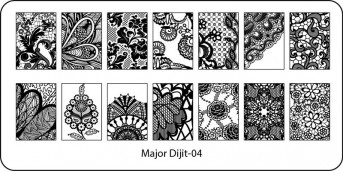 Stamping Schablone Major Dijit 04