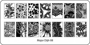 Stamping Schablone Major Dijit 08