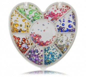 Strass Rhinestones Set, large & small, 9 colors