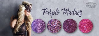 Diamondline Purple Madness Collection 4 Glitter Powders