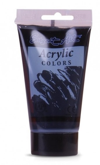 Acrylfarbe 75ml Soft Body Black