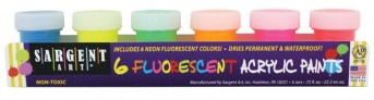 Acrylic Paint Kit with 6 NEON colors for One Stroke (6 x 22ml)