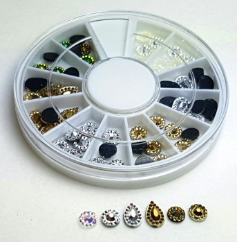 Strass Disk Antique Mix Deko