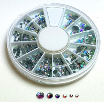 Strass Wheel iridescent, large & small